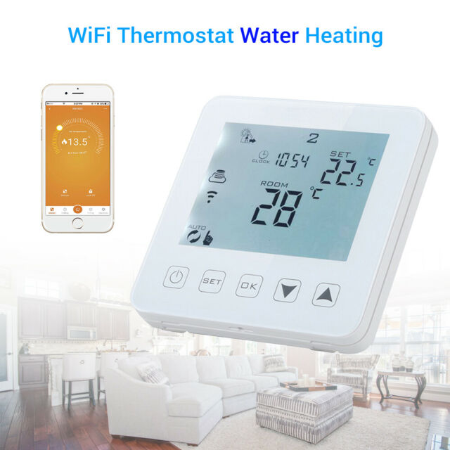 WiFi Programmable Thermostat Water Touch Screen LCD Smart APP Alexa Generation