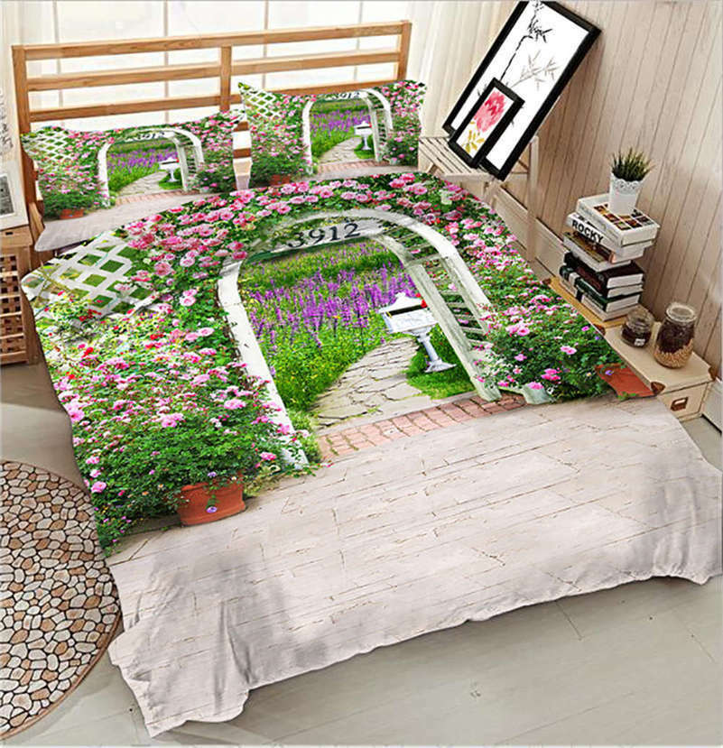 Cute Wildflowers 3D Printing Duvet Quilt Doona Covers Pillow Case Bedding Sets