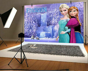 New Frozen 2 Backdrop Girls Birthday Party Background Vinyl Photo Studio Decor