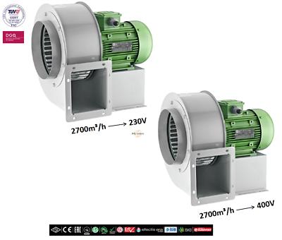 Radialgebläse centrífugas radialventilator radiallüfter 2700m³//h 230v