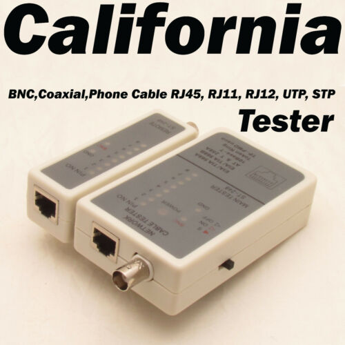 Network Cable Tester w Remote LAN BNC RJ45 Ethernet Coaxial Phone RJ45 RJ11 12