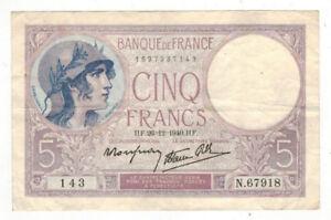 1940-France-5-Francs-P83-Circulated