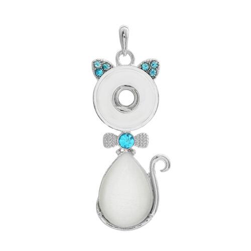 Nouveau Cristal Alliage Pendentif pour Fit Noosa Collier Snap Chunk Bouton A328