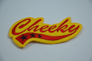 GO  Red Text Iron On Embroidery Applique Patch Sew Iron Badge 305