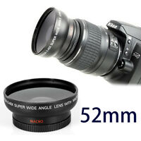Wide Angle 52mm Lens and Macro Close Up 0.45x lens for Nikon D40 D50 D60 D70