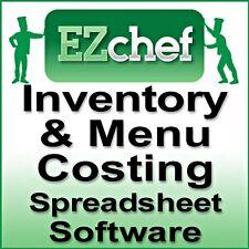 EZChef SOFTWARE Restaurant Inventory, Menu Costing Spreadsheets