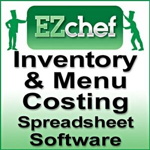 Details About Ezchef Software Restaurant Inventory Menu Costing Spreadsheets
