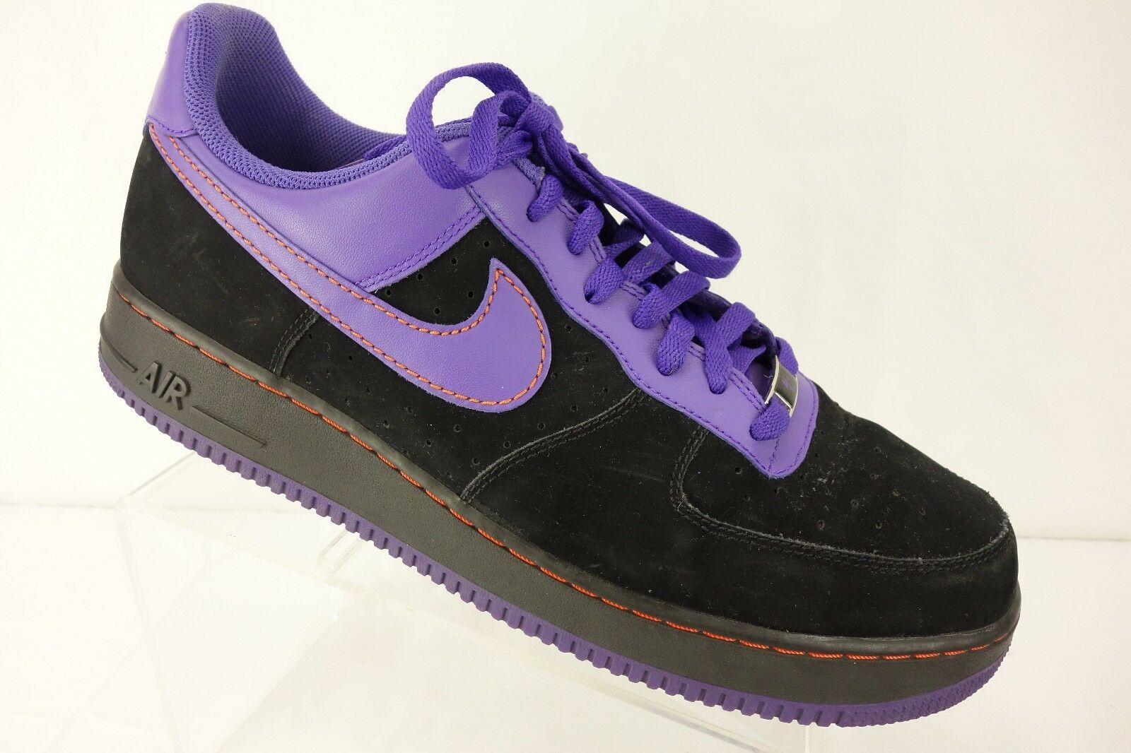 NIKE Air Force One '82 Black Purple Basketball Shoe Men's 13 Medium  New shoes for men and women, limited time discount