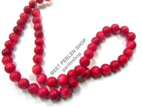 Coquillages Perles 4 mm tiefpink nacre 1 Strang Balle 65stk pierres u45