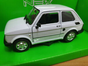 Fiat-126-Bianca-Scala-1-24-Die-Cast-Welly-Nuova