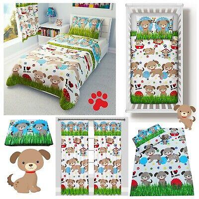 pillow 40x60cm Duvet Cover 100 x 135 cm /'My Litte Dog/' Baby Cot Bed Set