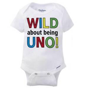 f54318ce2 Wild About Being Uno Gerber Onesie | First Birthday Cute Animal Baby ...