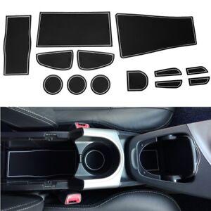 13Pcs Inner Door Slot Mat Pad Cup Holder White AntiSlip Fit For LEXUS UX 2019