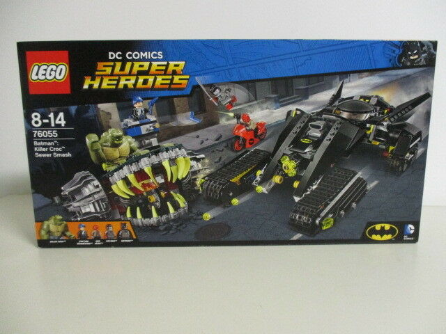 LEGO 76055 DC COMICS SUPER HEROES BATMAN KILLER CROC SEWER SMASH nuovo sigillao