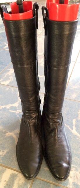 Damen-Stiefel, schwarz, Größe 40,5, Marke BOSS
