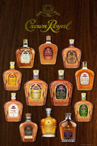 "Crown Royal Whisky Collection Home Bar Wall Art 24/"" x 36/"" LARGE POSTER"