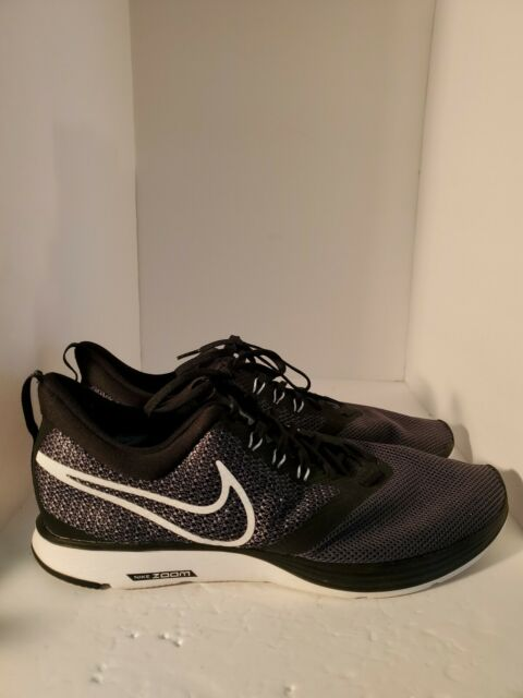 Men's Nike Zoom Strike Running Shoe Black White Dark-Grey AJ0189 001 Size 14