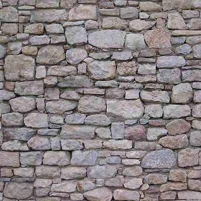 5 sheets SELF ADHESIVE embossed paper bumpy textured stone brick wall 21cm x29cm each sheet SCALE 112   free shipping