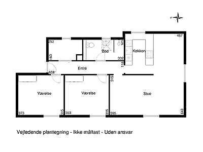 2605 vær. 3 lejlighed, m2 89, Østervang