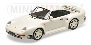 MINICHAMPS-155-066202-PORSCHE-959-diecast-model-car-white-body-1987-1-18th-scale