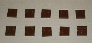 LEGO-NEW-2x2-Reddish-Brown-Tile-with-2-Studs-10x-6196221-Brick-33909