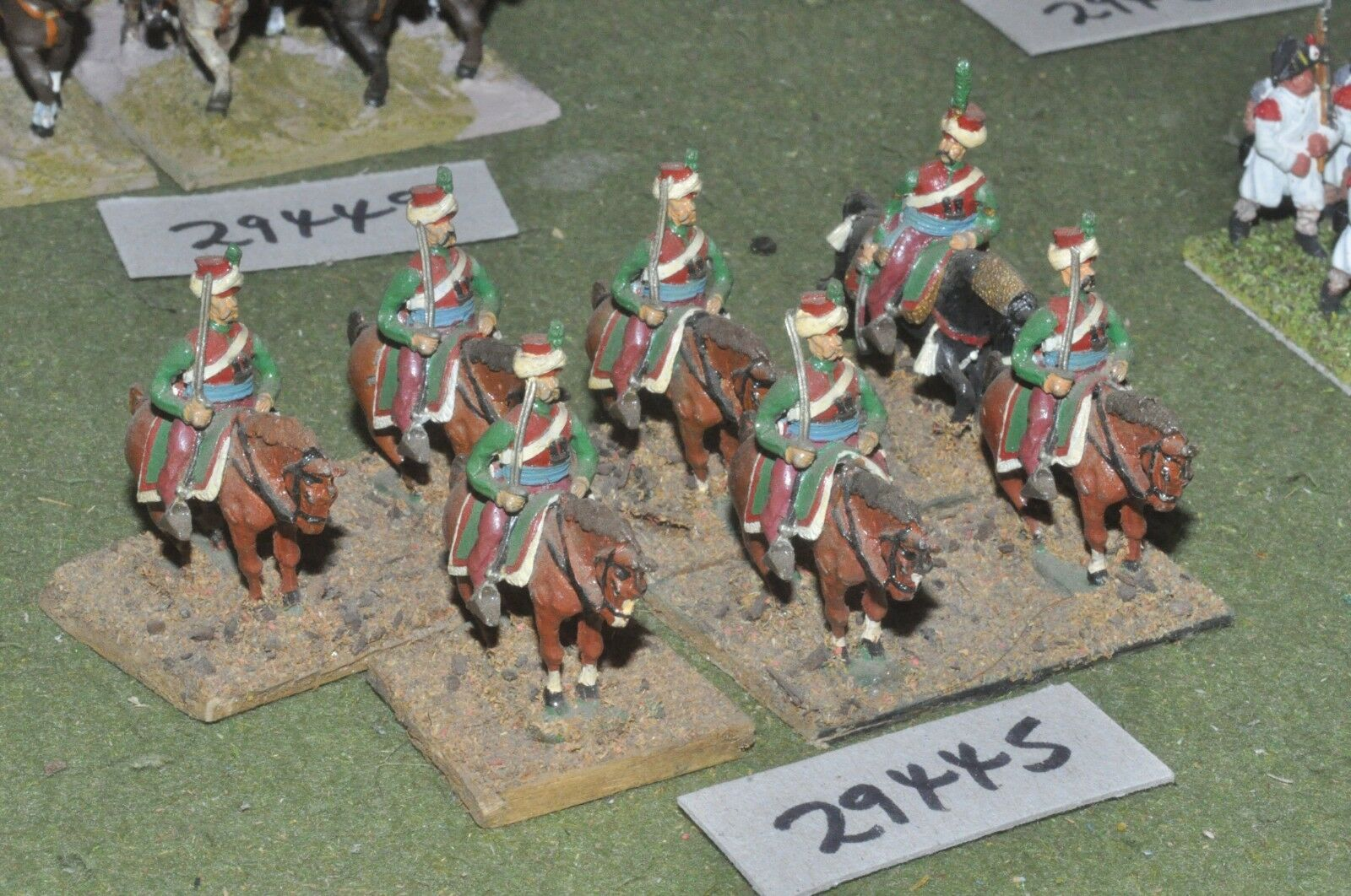 25mm napoleonic   french - mamluks 7 figures - cav (29445)