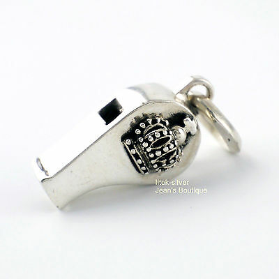 Jewelry & Watches Smart 925 Sterling Silver Retro Crown Whistle Pendant Men Gift A2346
