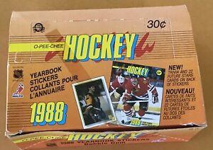 1988-89-OPC-O-Pee-Chee-Hockey-Stickers-PARTIAL-Wax-Box