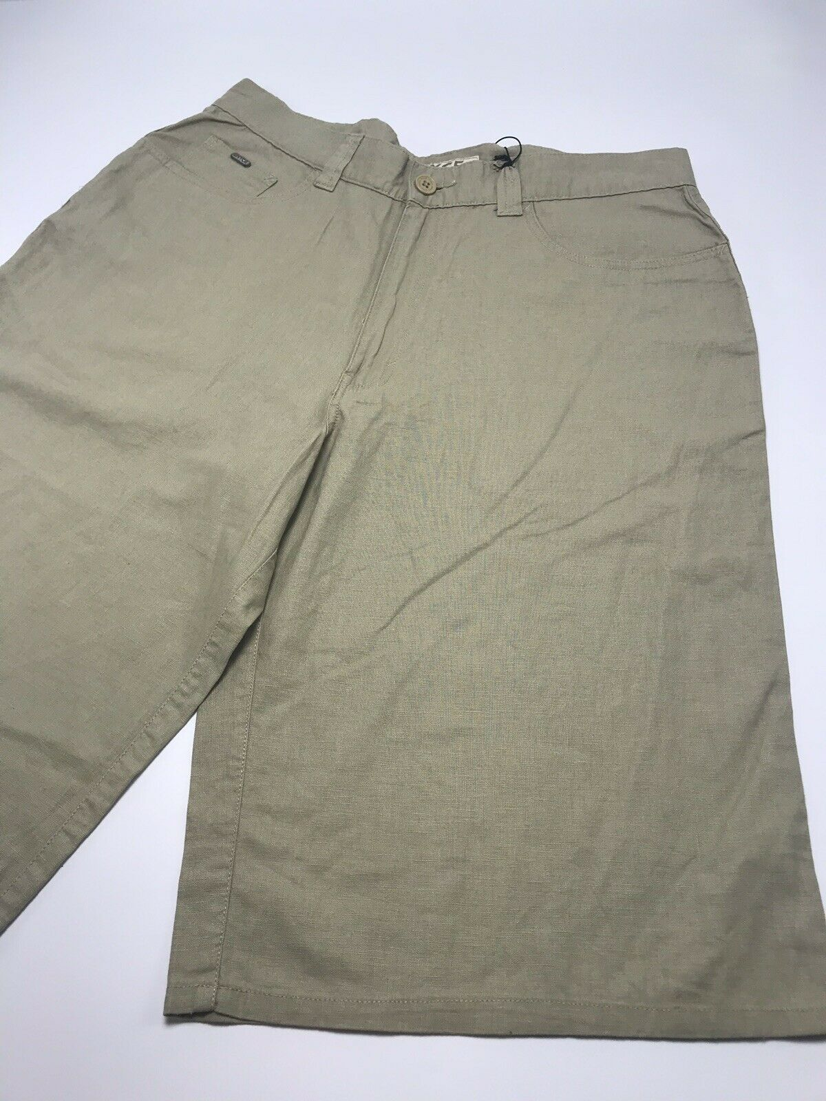 Men's Enyce Khaki Linen Casual Shorts