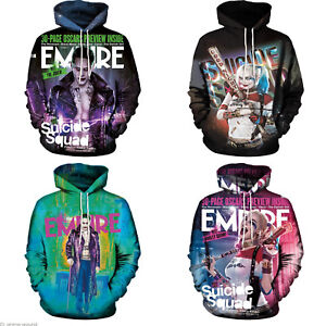 08d2f26a712c DC Suicide Squad Harley Quinn Joker 3D Print Graphic Hoodie ...