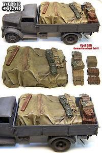 1-35-Masstab-Resin-Kit-Opel-Blitz-German-Cargo-Truck-Load-3-Stauraum