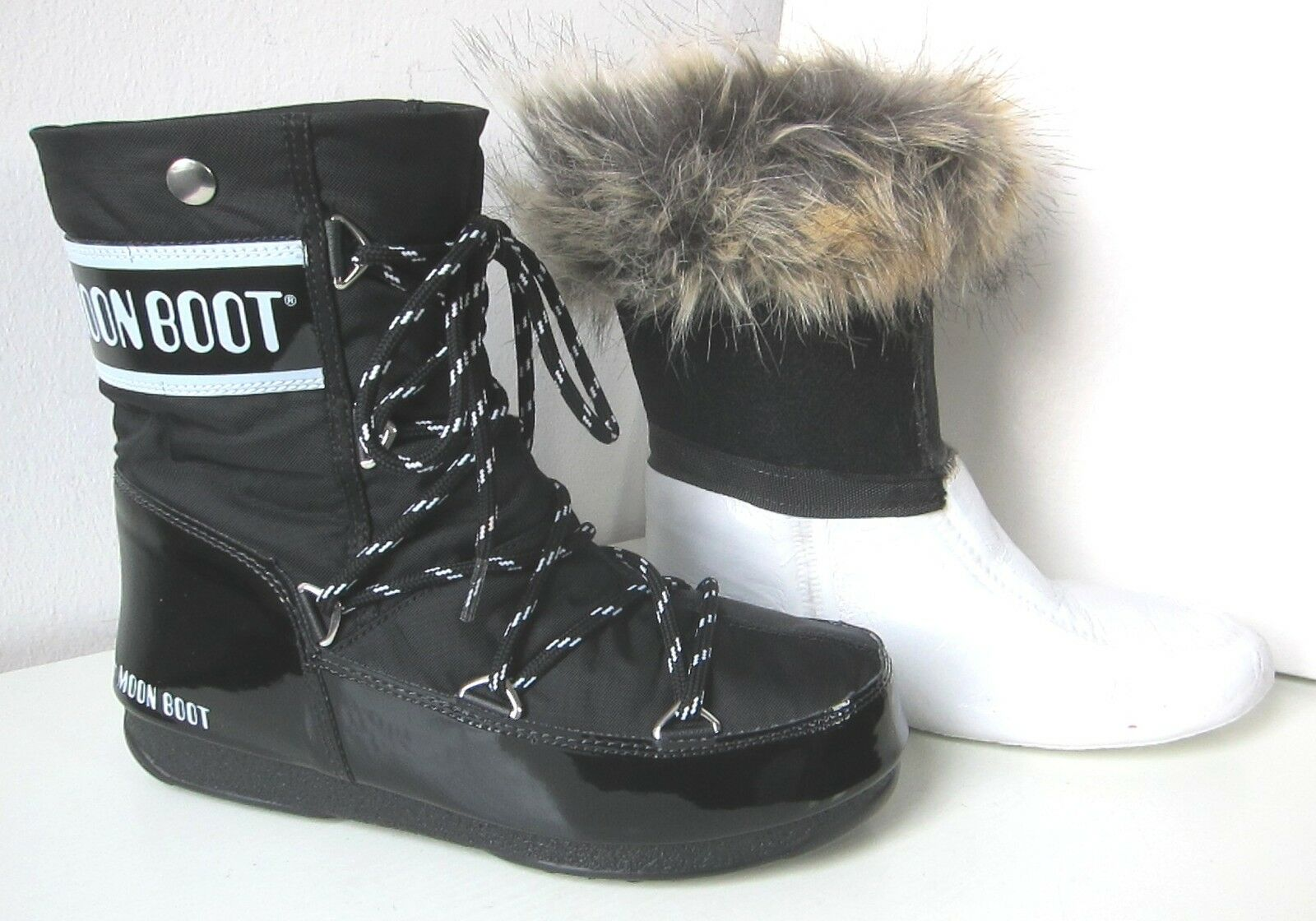 Tecnica MOON BOOT Monaco low rot Gr. 38 Moon Boots fur red Kunstfell Fell fake fur Boots 578176