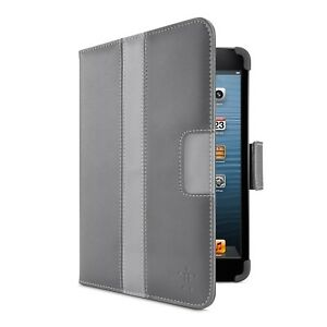 Slightly-Blemished-Belkin-iPad-Mini-Striped-Cover-with-Stand-Dark-Grey