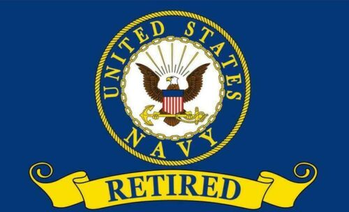 U.S NAVY Retired Flag 3x5FT Banner NVY USA Veteran Dad Mom Gift Man Cave
