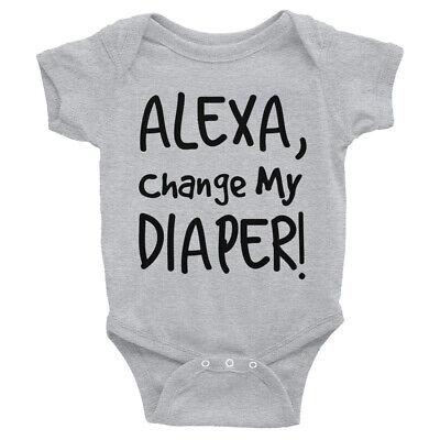 Alexa Change My Diaper Design on a Baby Gerber Onesie