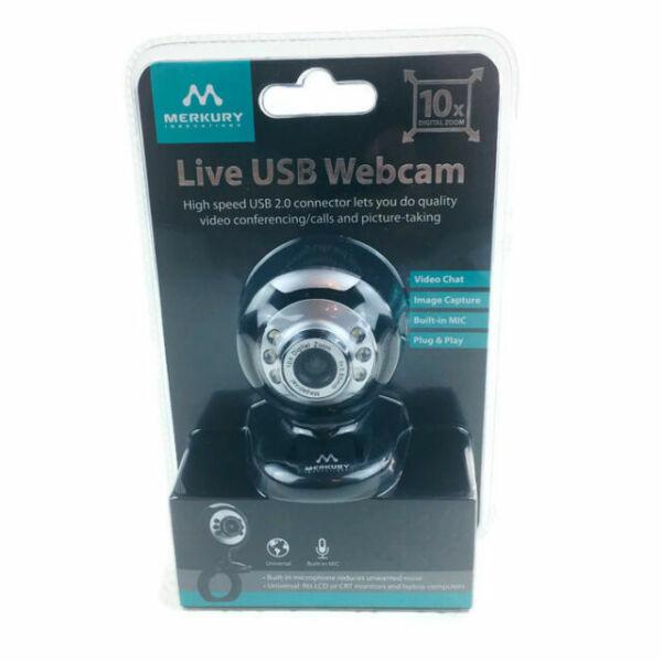 Merkury Innovations Live USB Webcam With Clip (m-wc310