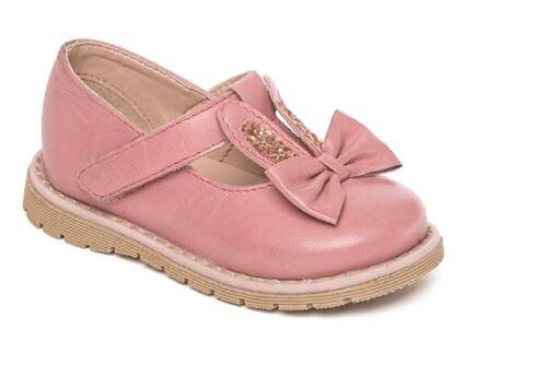 Girls Leather Mary Jane Style Smart Shoes Size Child Infant Navy Pink Black