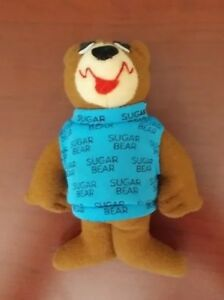 """Sugar Bear GENERAL FOODS ADVERTISING Cereal Cloth Doll 4.5"""" Collectible"""