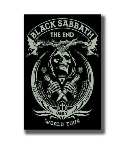 Black Sabbath The End World Tour Ozzy Osbourne Fabric Poster Art TY629-24x36In