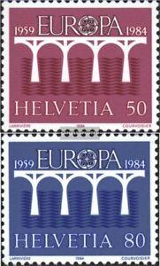 Schweiz-1270-1271-kompl-Ausgabe-postfrisch-1984-Europamarken
