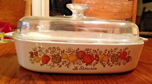 034-Spice-Of-Life-034-CORNING-WARE-Casserole-Dish-A-10-B-With-Domed-Glass-Pyrex-Lid