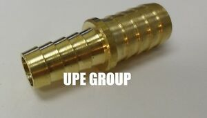5/8 X 1/2 Hose Barb Mendor Union Splicer Brass Pipe Fitting Gas Fuel Water Air