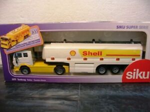 WOW-EXTREMELY-RARE-3511-Mercedes-SK-Tankwagen-Shell-Tanker-White-1-55-Siku
