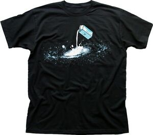Milky Way Galaxy Space Nasa spaceman black printed t-shirt 9368