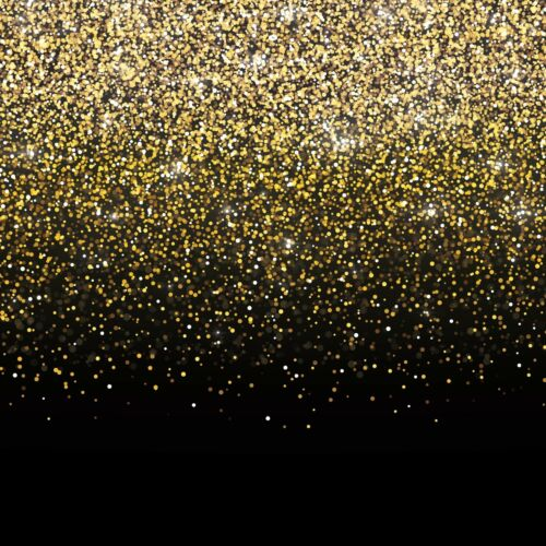 6x6ft USA Fast Shipping Black and Gold Photo Booth Backdrop Banner