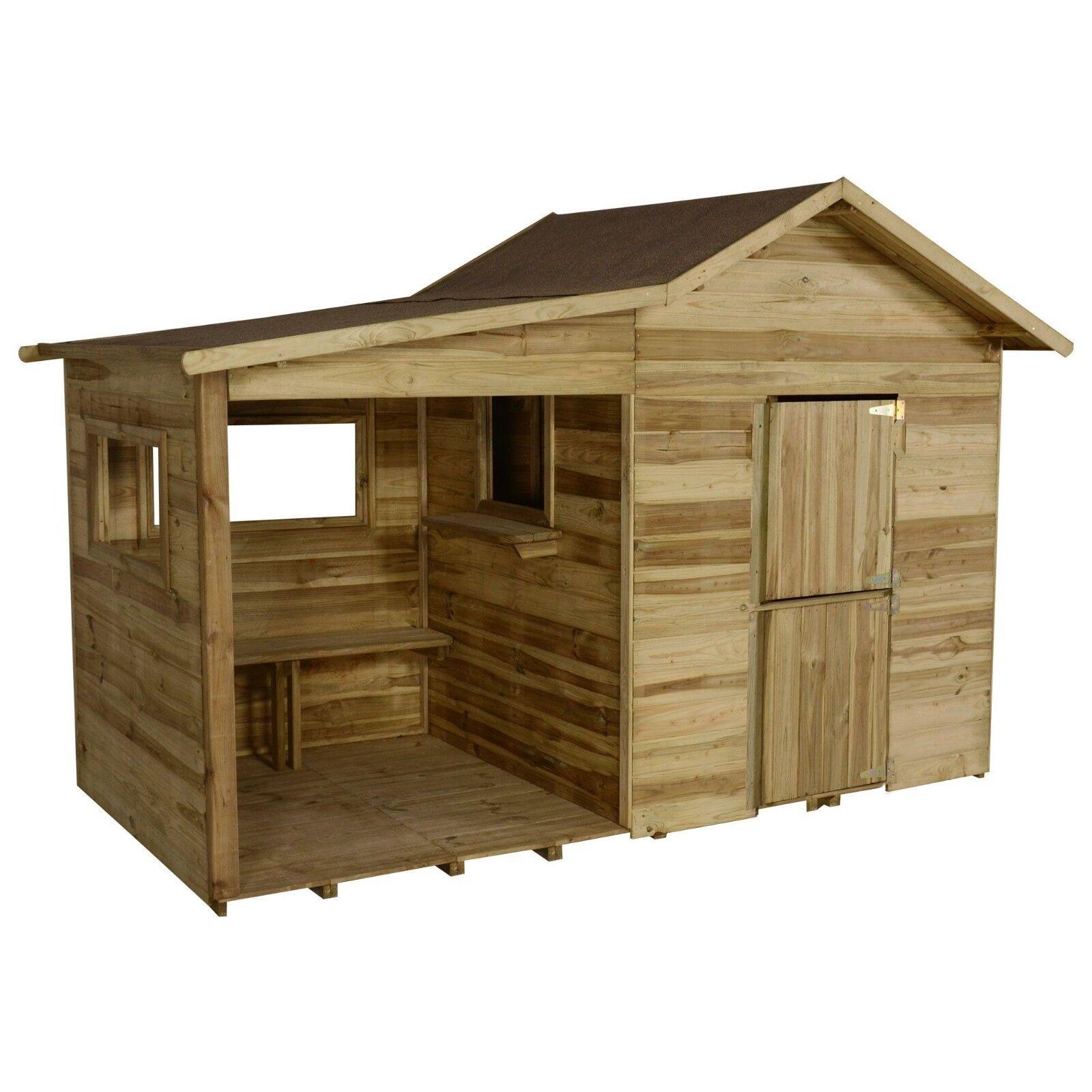 8x4ft 4x4 BAMBINI PLAY MONDA bambini WENDY casa legnoEN BAMBINI GARDEN nuovo