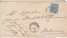 1877 10 C. SU BUSTA DOPPIO ANN. NUM. + D.C. DA MONTELEPRE A PALERMO 4