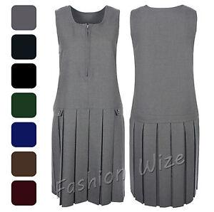 cbb8b2d7ca0b Girls School Pinafore Dress Age 2 3 4 5 6 7 8 9 10 11 12 13 14 15 16 ...