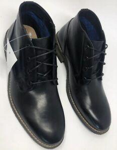Florsheim-Men-s-Boots-Black-Leather-Lace-Up-Chukka-Desert-Shoes-Size-8-M