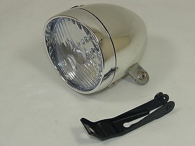 VINTAGE / RETRO STYLE HEADLAMP / DYNAMO-STYLE LAMP WITH 3 LED's